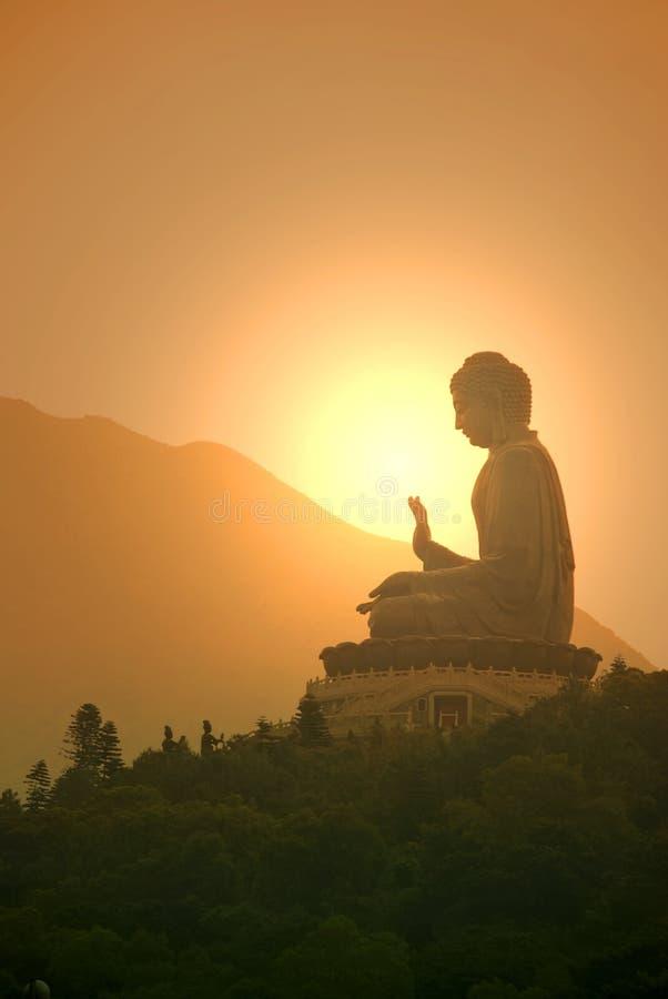 天狮宝莲寺的Tan菩萨或大菩萨雕象 免版税库存图片