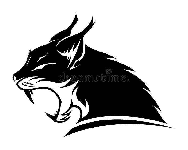 天猫座黑色标志 皇族释放例证
