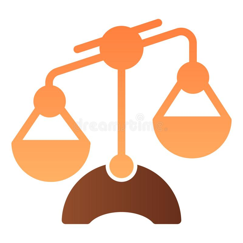 天秤座平的象 标度上色在时髦平的样式的象 相等的梯度样式设计,设计为网和应用程序 10 eps 皇族释放例证