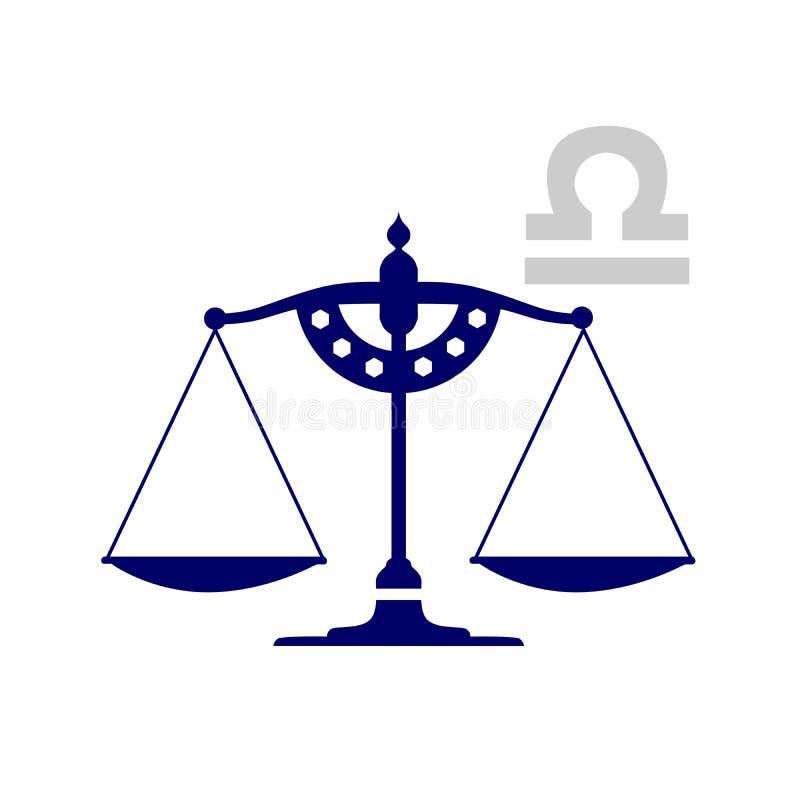 天秤座标志 皇族释放例证