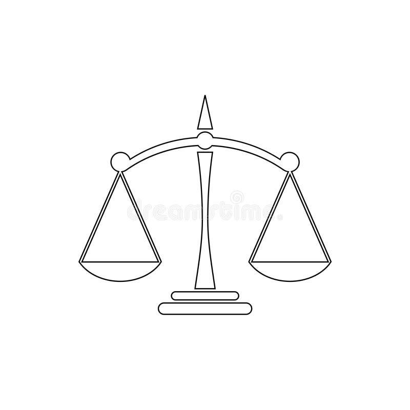 天秤座线象商标标志 向量例证