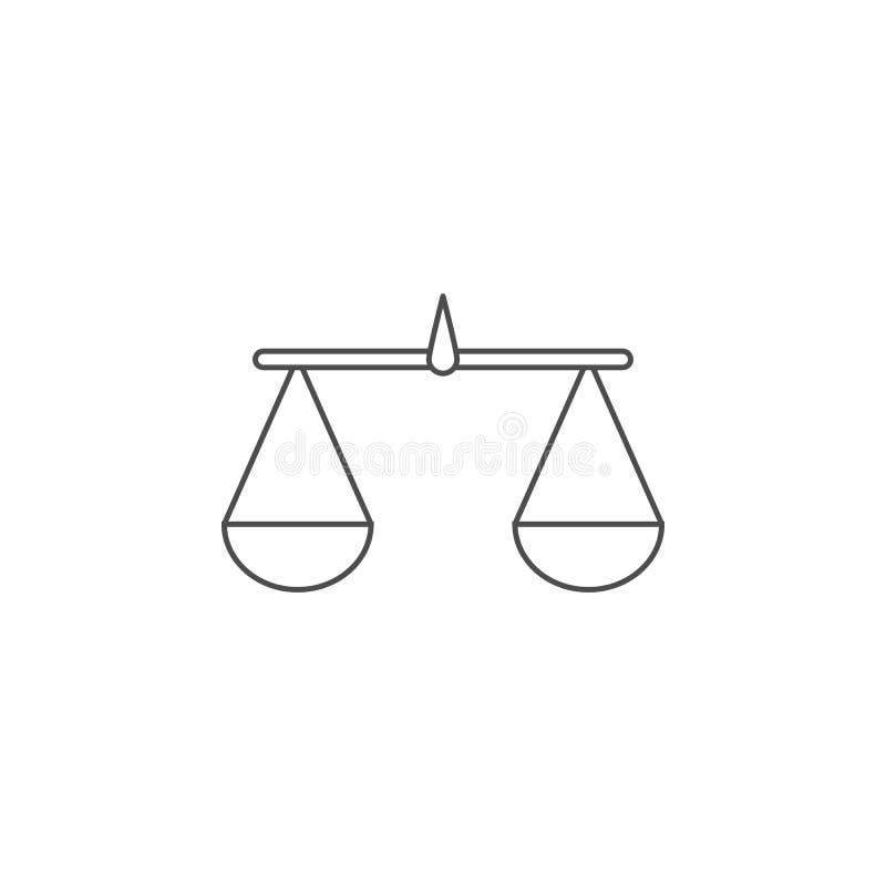 天秤座象 流动概念和网apps的元素 网站设计和发展的, app发展稀薄的线象 优质 库存例证