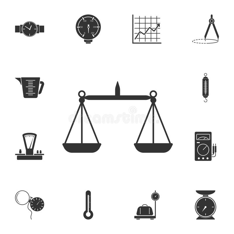 天秤座象 简单的元素例证 天秤座从测量的汇集集合的标志设计 能用于网和机动性 库存例证