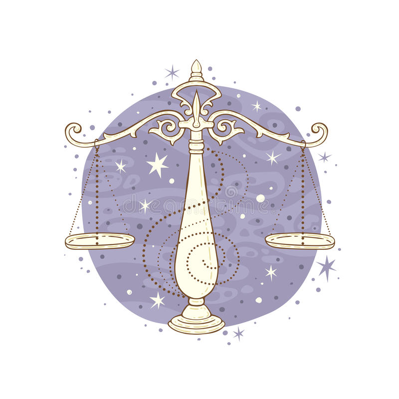 天秤座黄道带标志 免版税库存照片