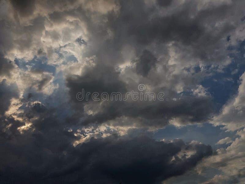 天空丝毫云彩 库存图片