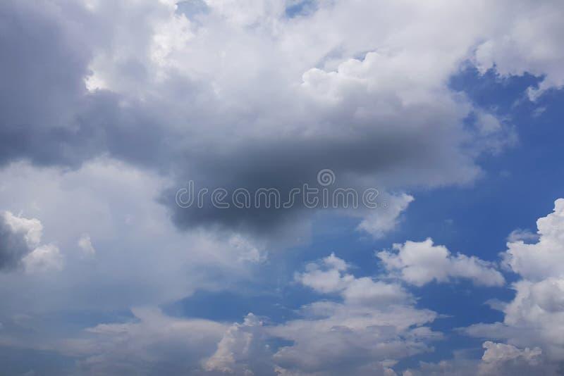 天空丝毫云彩 库存照片