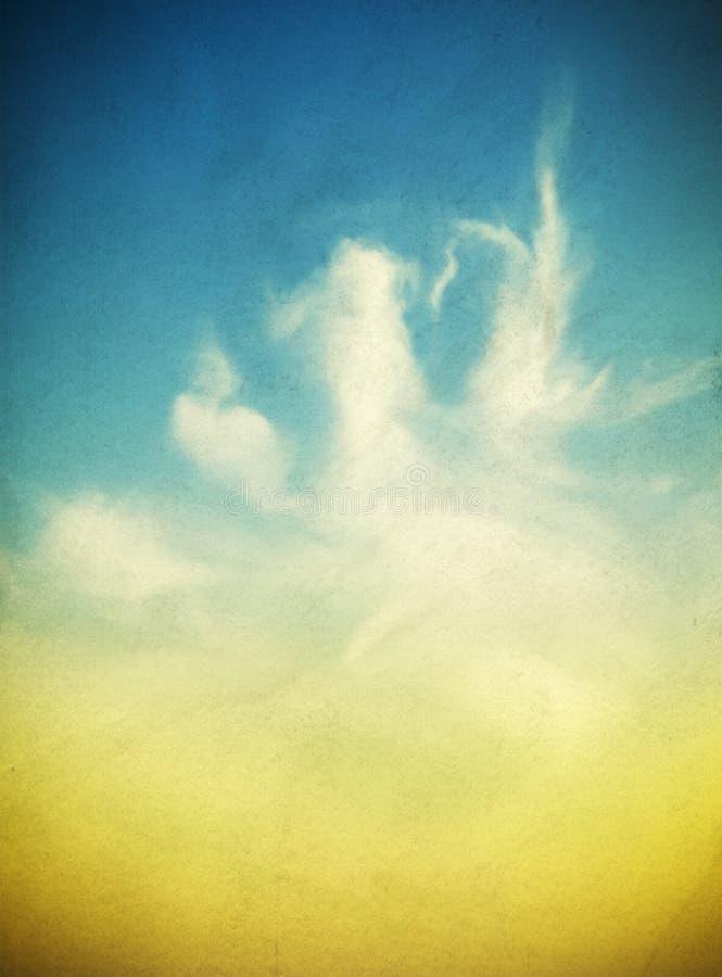 天空和云彩 皇族释放例证