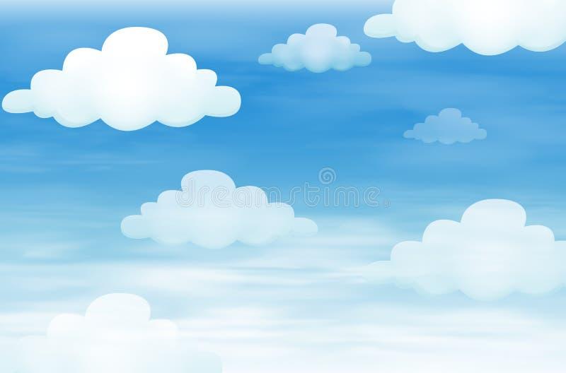 天空和云彩 向量例证