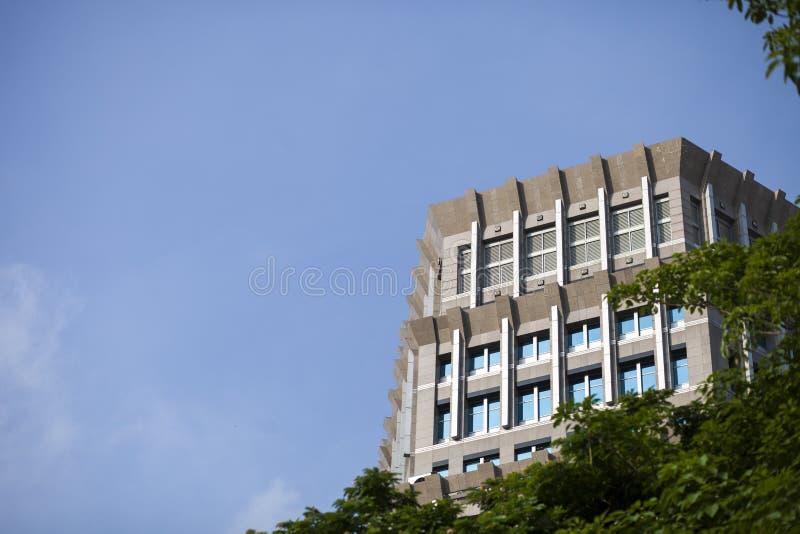 天空和大厦 库存照片