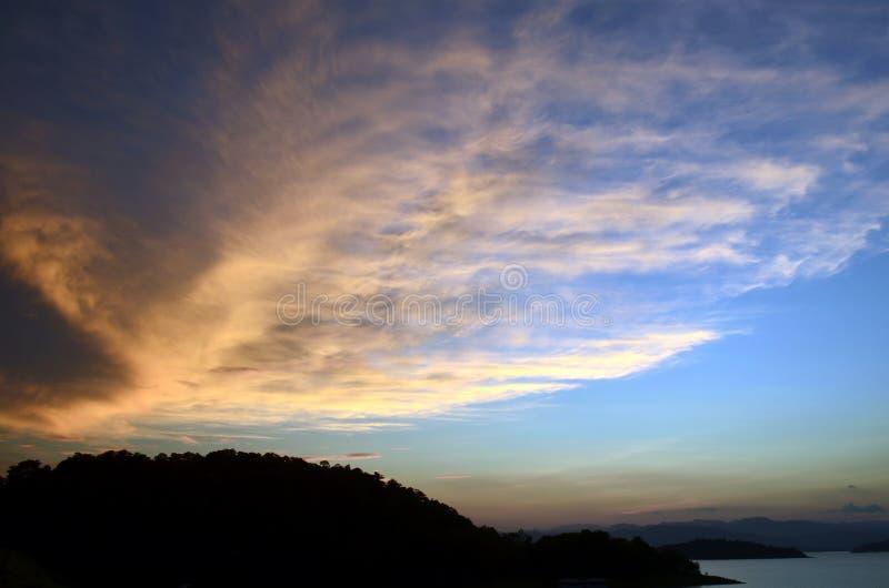 天空和寂寞 免版税库存照片