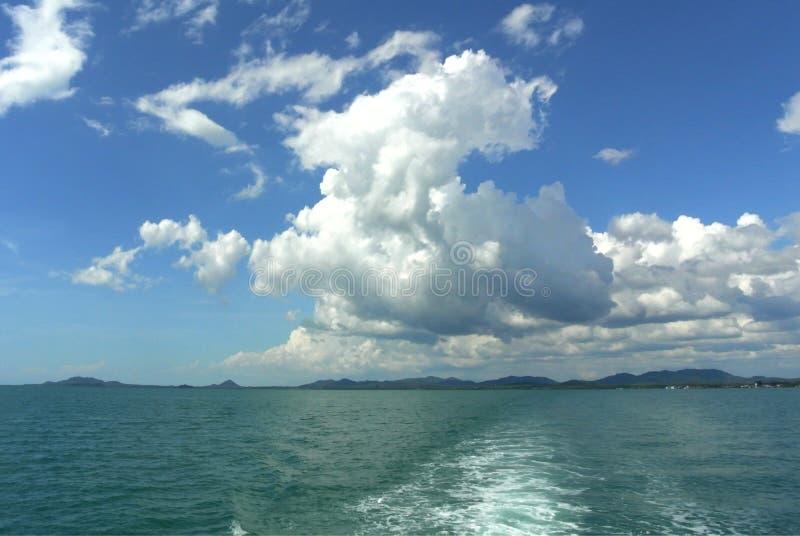 天空和海运 库存图片