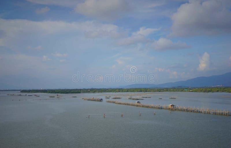 天空和海,庄他武里,泰国 库存照片