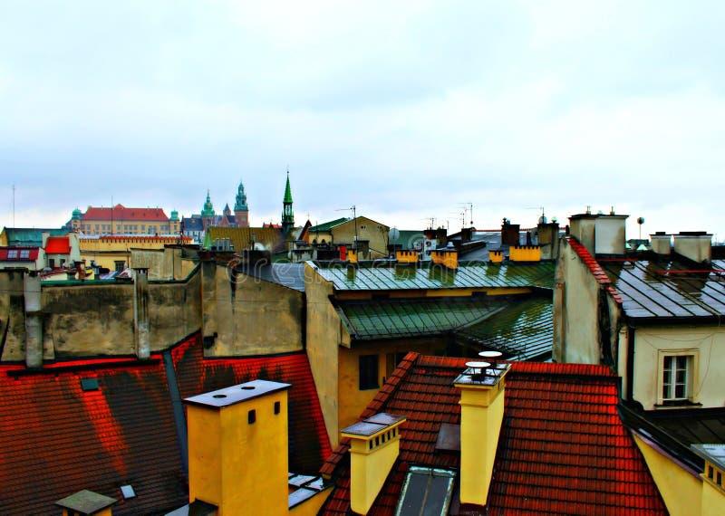 天空在城市 库存照片