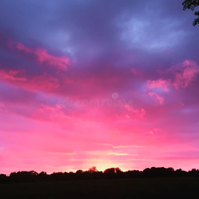 天空在晚上 库存图片