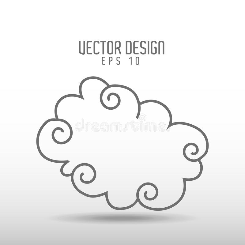 天空得出的象设计 库存例证