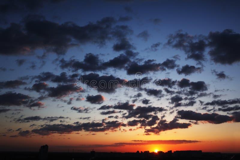 天空日落 图库摄影