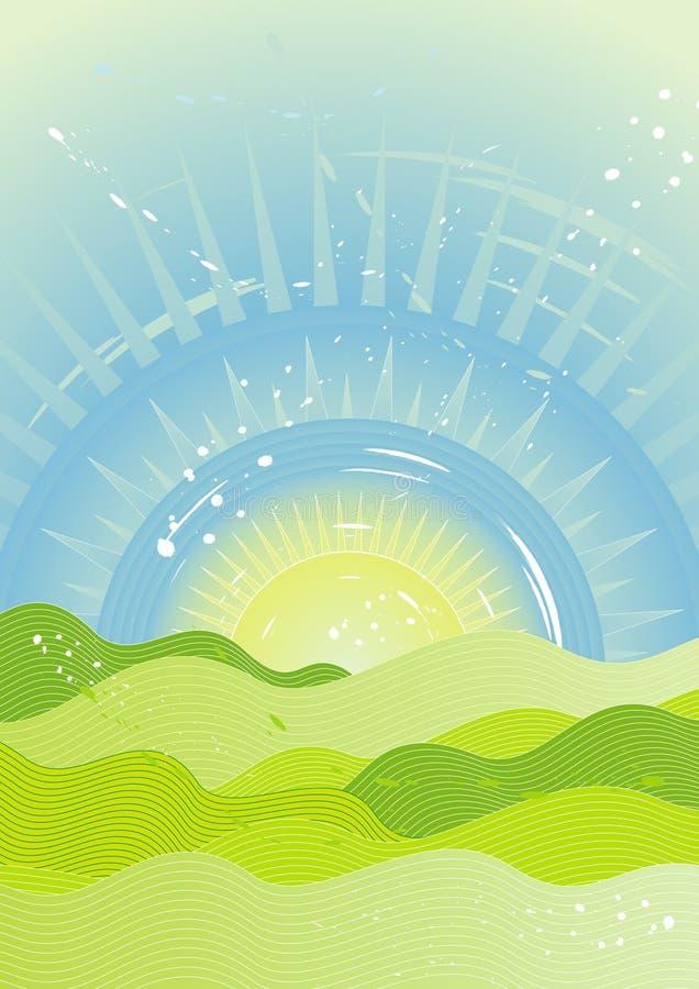 天空星期日向量 向量例证
