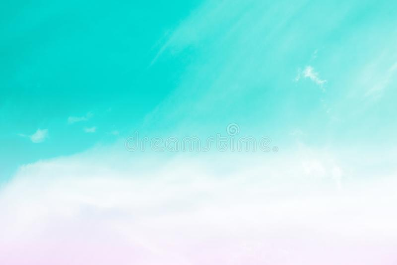 天空柔和的淡色彩 免版税库存照片