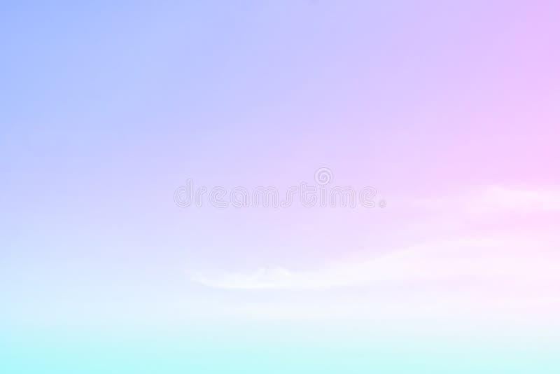天空柔和的淡色彩 免版税库存图片