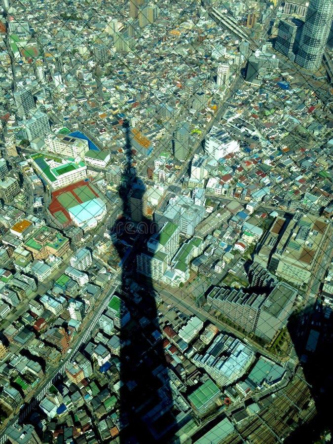 天空树东京在晴天 库存图片