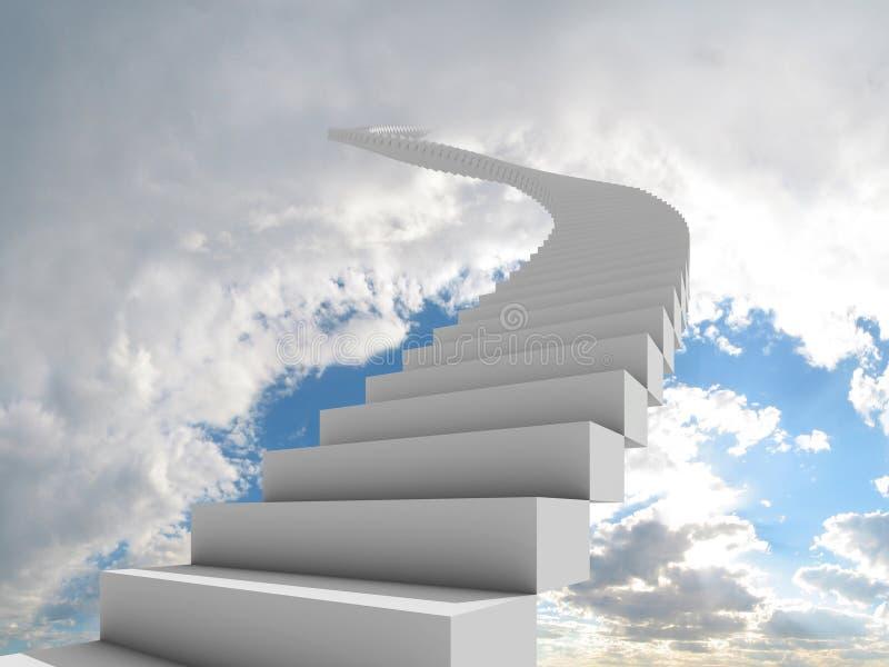 天空楼梯 向量例证