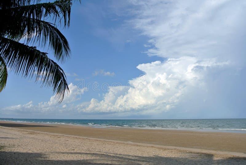天空海和沙子 库存照片