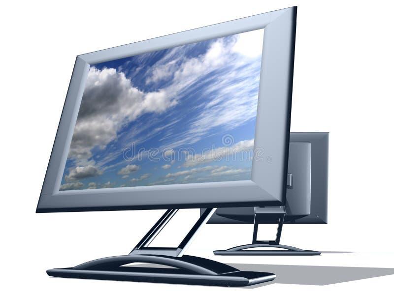 天空电视二与 向量例证