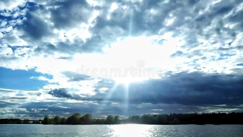 天空的上帝 免版税库存图片