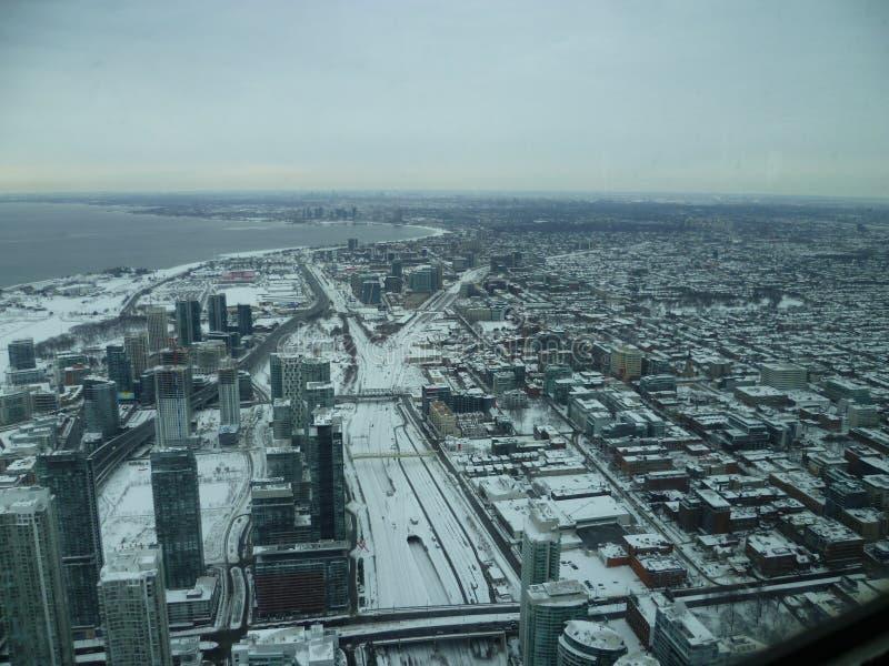 从天空的多伦多 免版税图库摄影