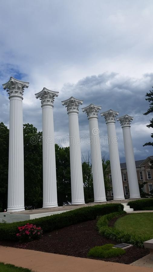 天空的柱子 免版税库存照片