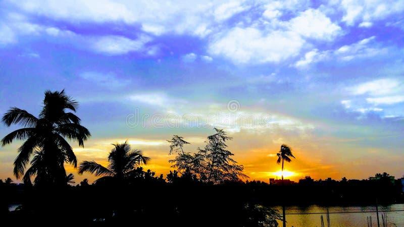 天空的颜色 免版税库存照片