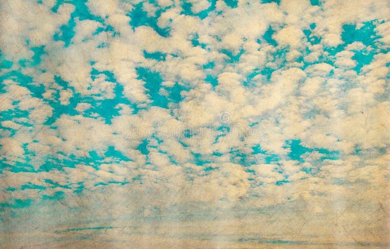 天空的Grunge图象 向量例证