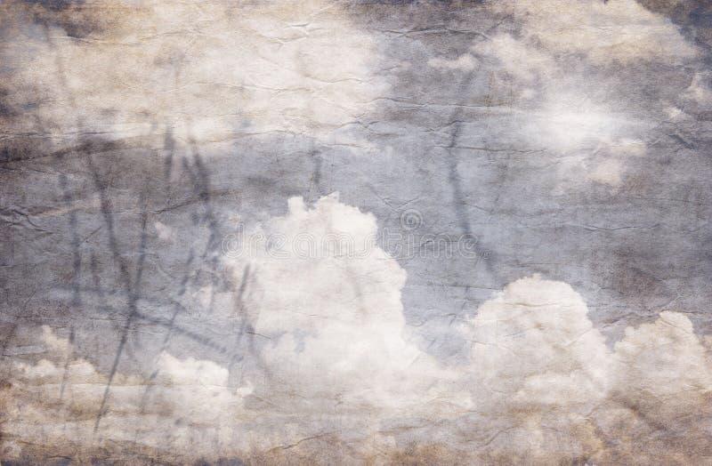 天空的Grunge图象 库存例证
