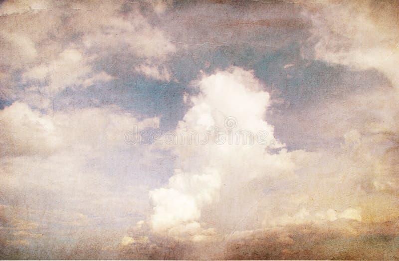 天空的Grunge图象 皇族释放例证