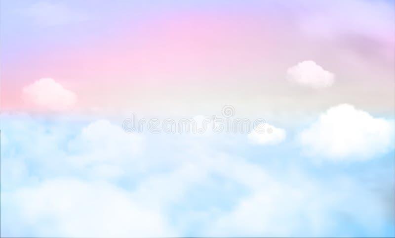 天空背景和淡色 10 eps 向量例证