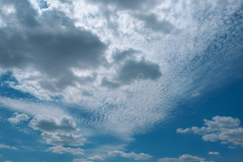 天空蓝色背景与云彩的 库存照片