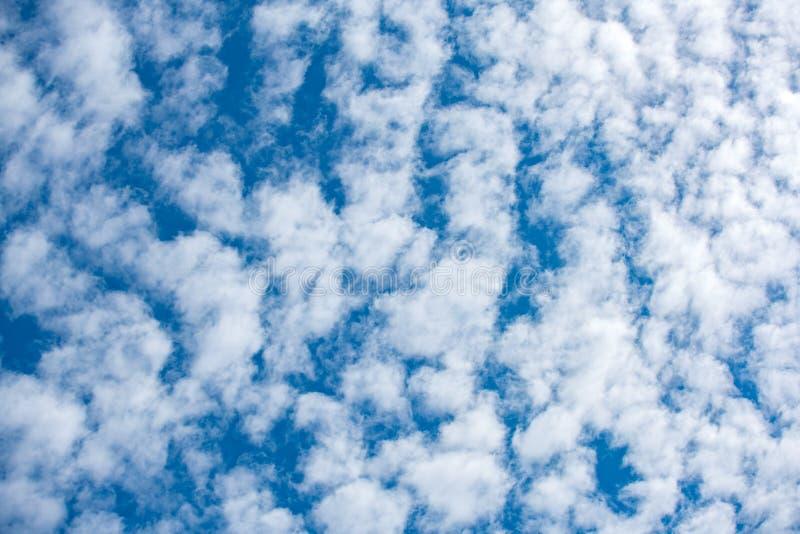 天空蔚蓝和云彩纹理的高分辨率图象 免版税图库摄影