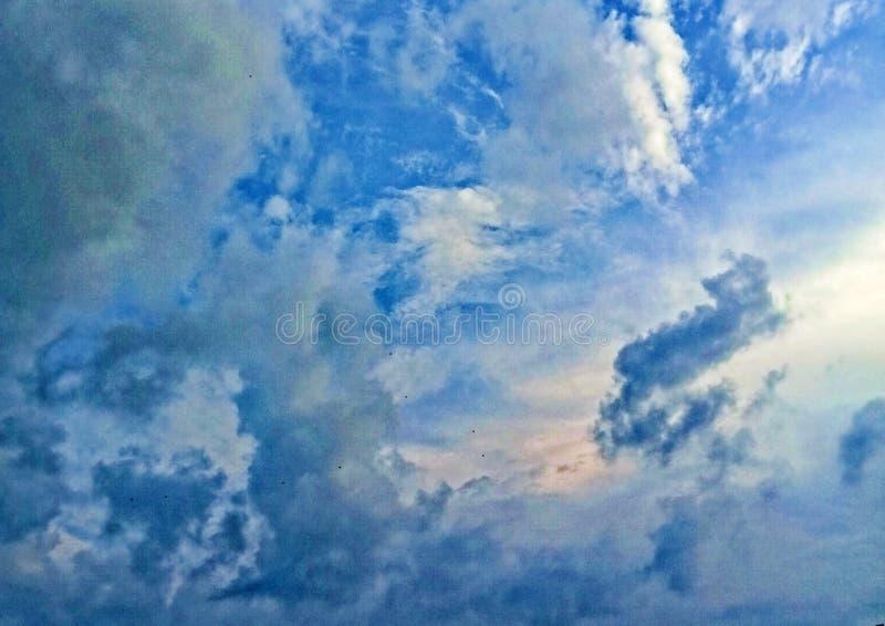 天空蔚蓝和云彩 图库摄影