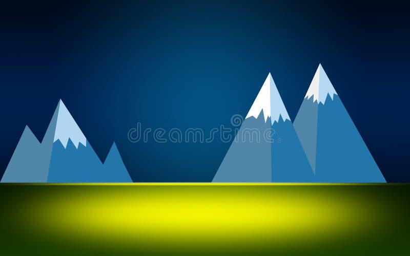 天空蔚蓝和绿色草坪 皇族释放例证