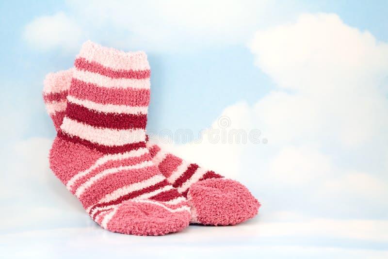 天空袜子 免版税库存图片