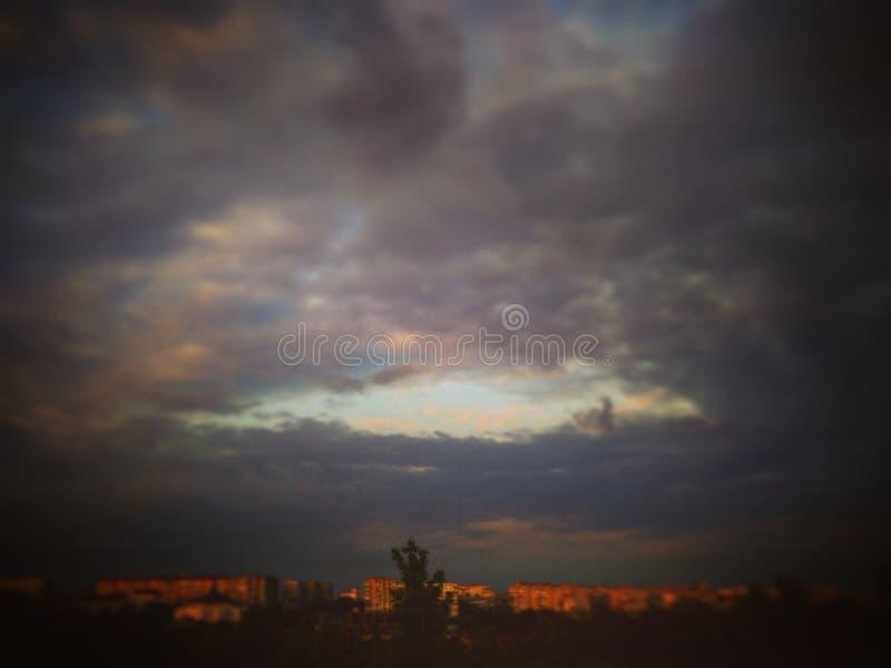 天空雨 库存照片