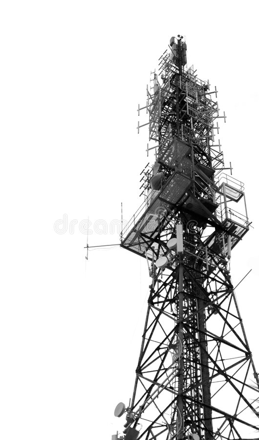 天线单选地区发射机 图库摄影