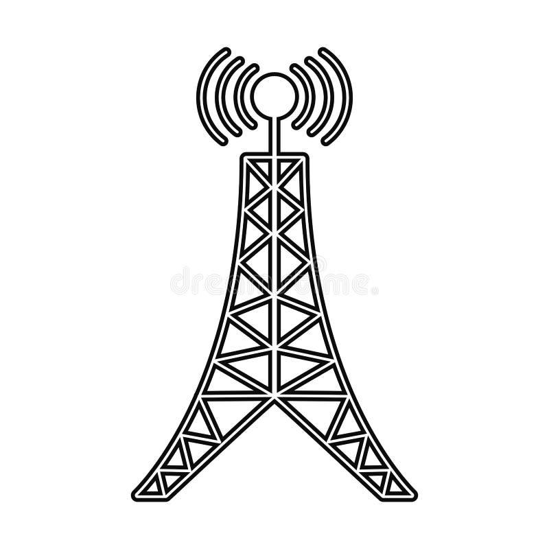 天线塔广播连接线 免版税图库摄影