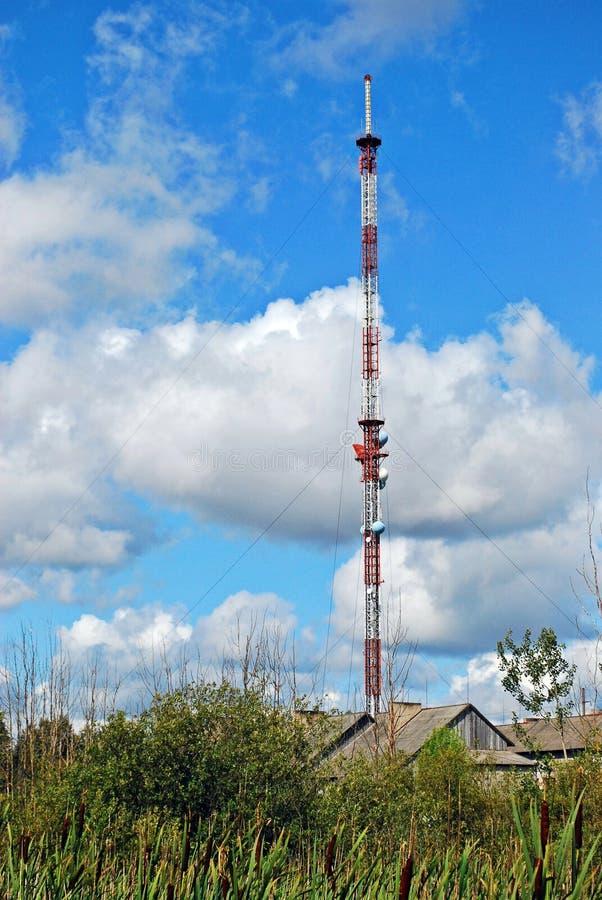 天线广播dvb-t信号 库存图片