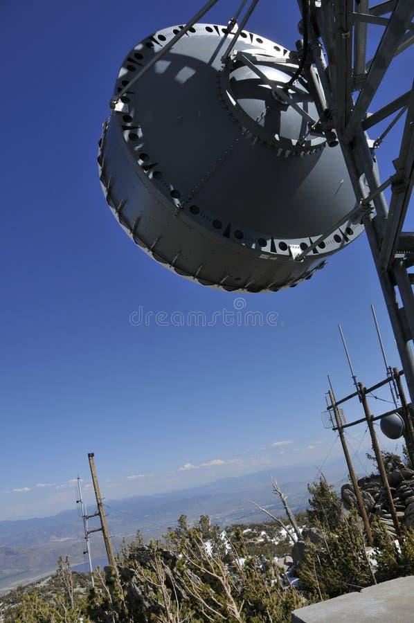 天线微波mtn峰顶 图库摄影