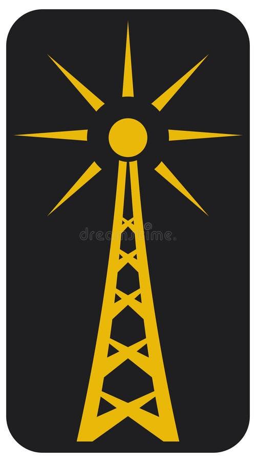 天线收音机 库存例证