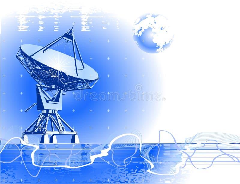 天线断送卫星 向量例证