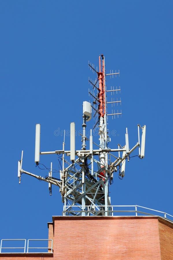 天线移动电话网络 免版税库存图片