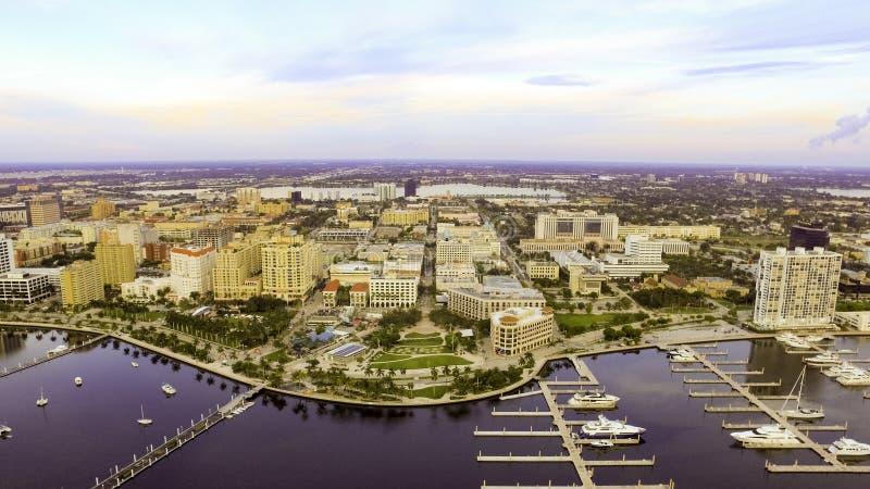 天线街市西棕榈海滩佛罗里达 免版税库存照片