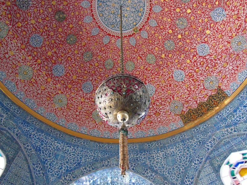 天花板在闺房Topkapi宫殿 免版税库存图片